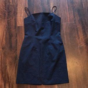 Navy Sparkley Slip Dress